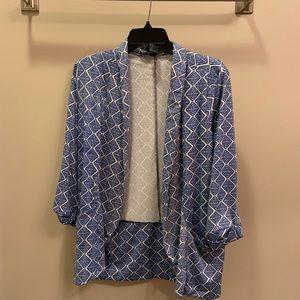 Casual open blazer geometric design